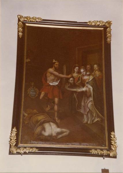 tableau, cadre : la décollation de saint Jean-Baptiste, vue générale
