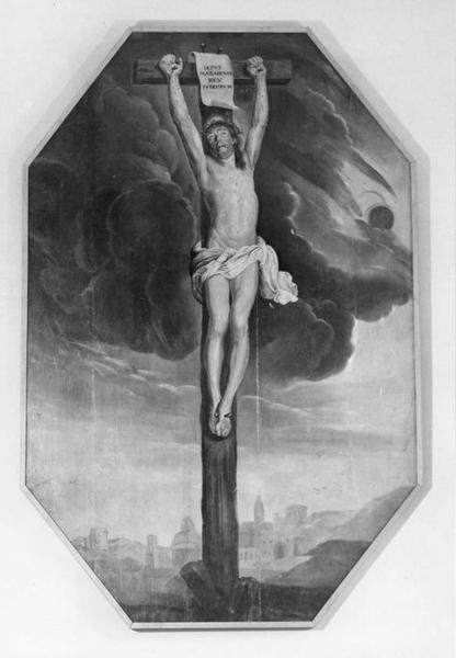 tableau : Christ en croix, dit Christ janséniste, vue générale