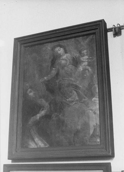 tableau : Vierge à l'Enfant donnant le rosaire à Saint Dominique, vue générale