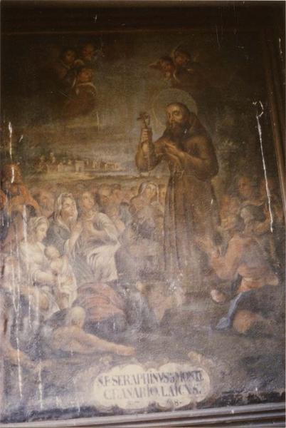 tableau : saint Séraphin de Montegranaro, vue générale