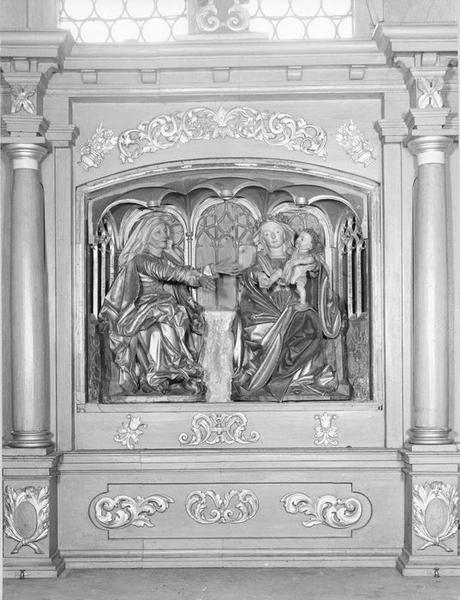 groupe sculpté de la Sainte Parenté, vue générale