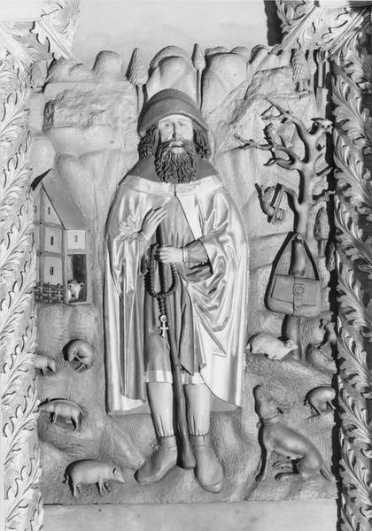 bas-relief : saint Wendelin, vue générale