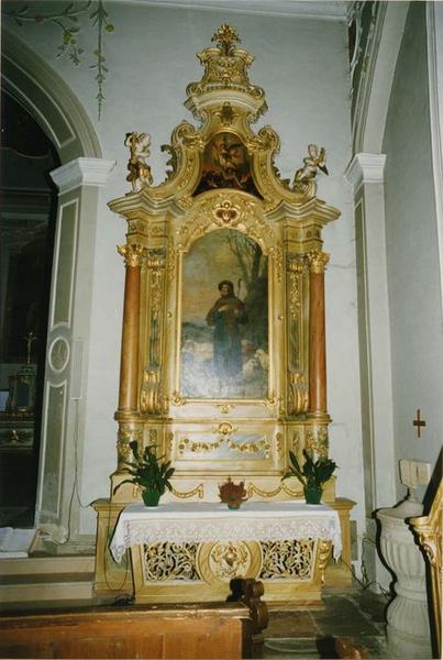 autel, retable, tableaux (2) : saint Wendelin, saint Michel, vue générale