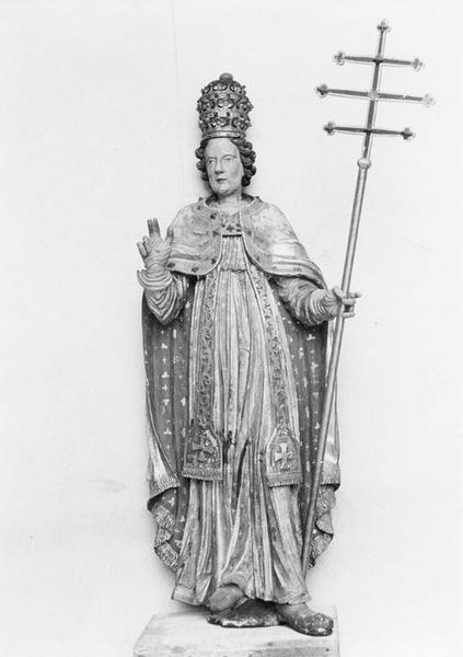 statue : saint Corneille pape, vue générale