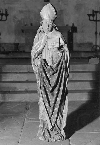 statue : saint Léger d' Autun (?), saint Nicolas de Bari (?), vue générale
