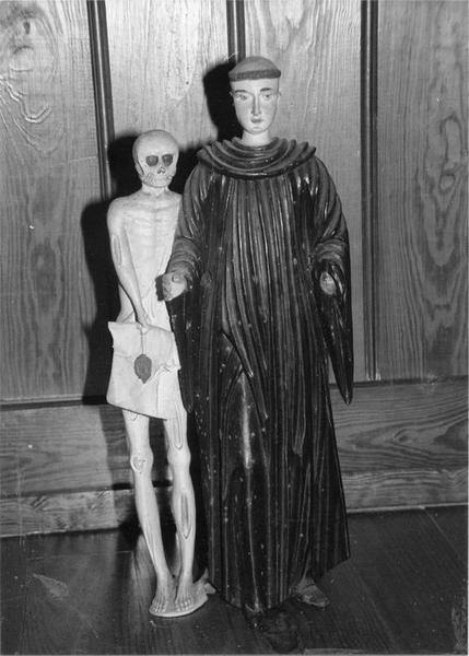 groupe sculpté : saint Fridolin, vue générale