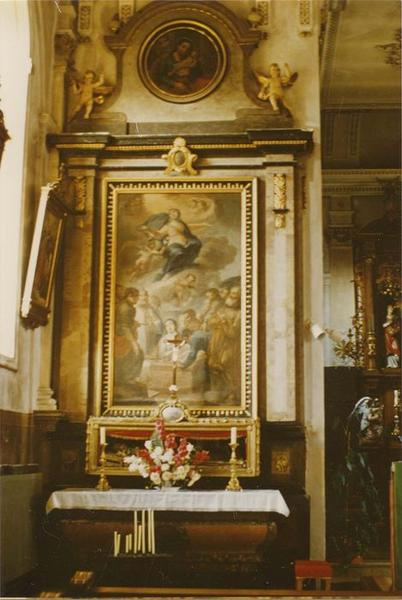 Autel, retable, tableau : l'Assomption de la Vierge