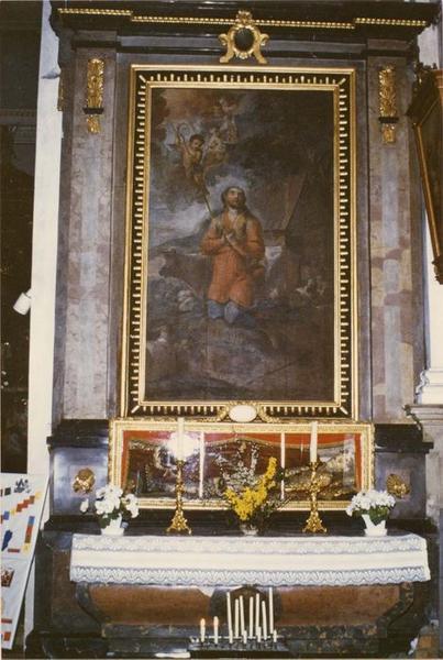 autel, retable, tableau : saint Wendelin, vue générale