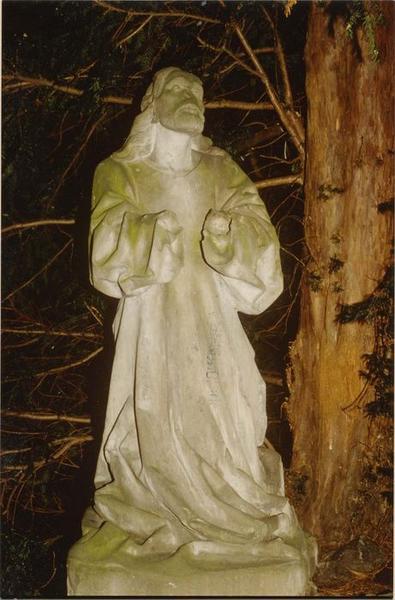 statue: le Christ, mont des Oliviers, vue générale