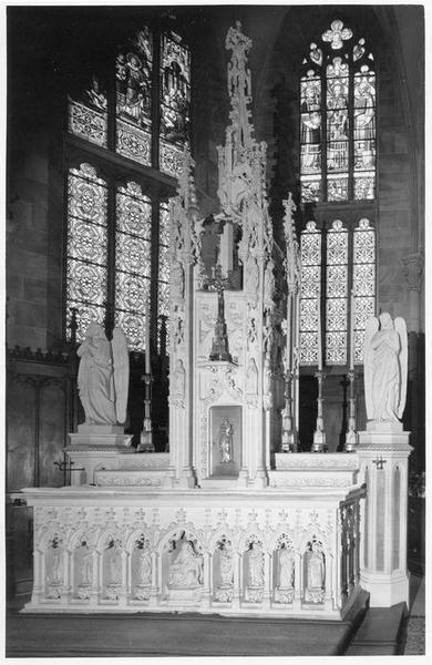 autel, tabernacle, gradins (2) (maître-autel), vue générale
