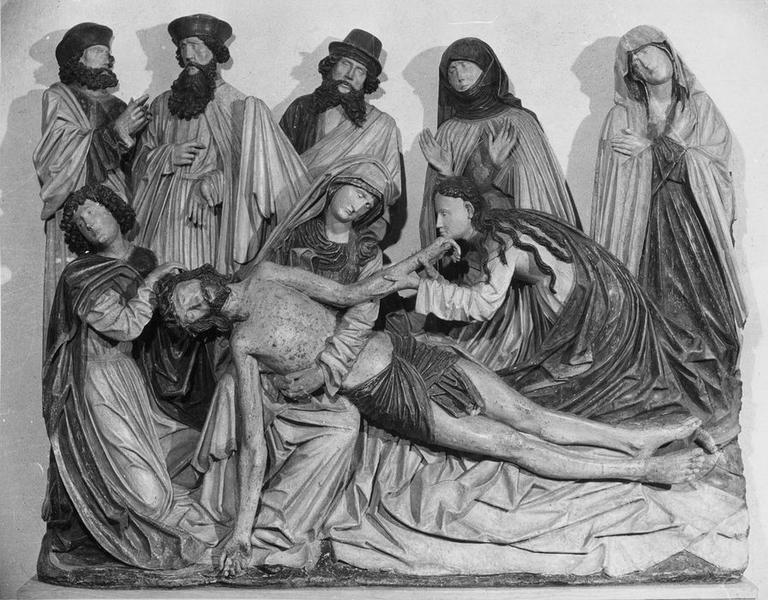 groupe sculpté : la Déploration du Christ, vue générale