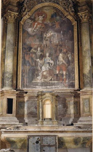 Autel, retable, tableau : le Martyre de sainte Catherine (maître-autel)