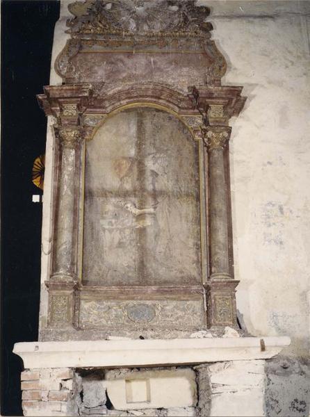 retable, tableau : moine franciscain, vue générale
