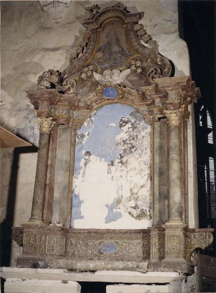 Retable, tableau : saint François d'Assise