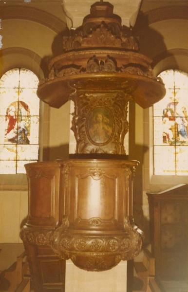 chaire à prêcher, tableau : le Bon Pasteur, vue générale