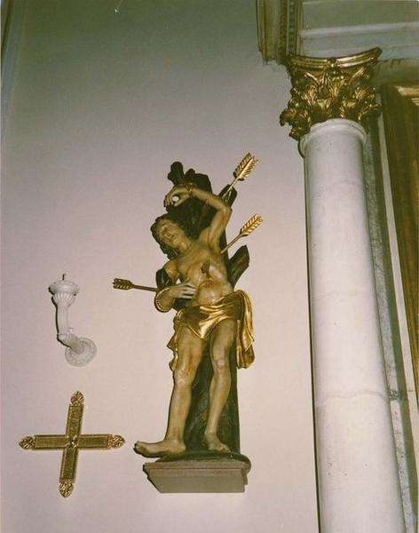 statue : saint Sébastien, vue générale