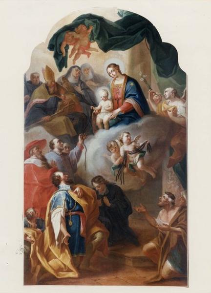 Tableau, cadre : Notre-Dame de la consolation, vue générale