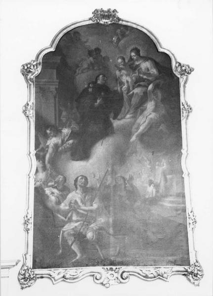 tableau, cadre : saint Nicolas de Tolentino, vue générale