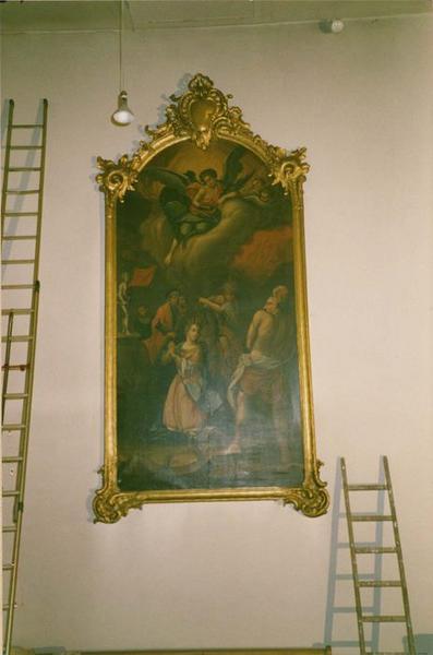 tableau, cadre : le martyre de sainte Catherine d' Alexandrie, vue générale