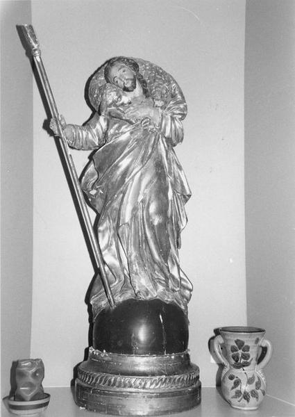 statue de procession : le Bon Pasteur, vue générale