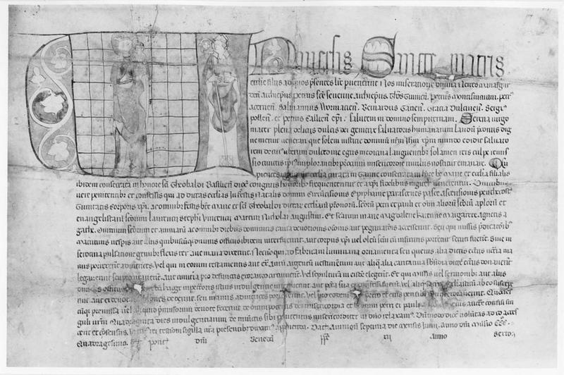 manuscrit : saint Thiebaut de Thann, vue partielle