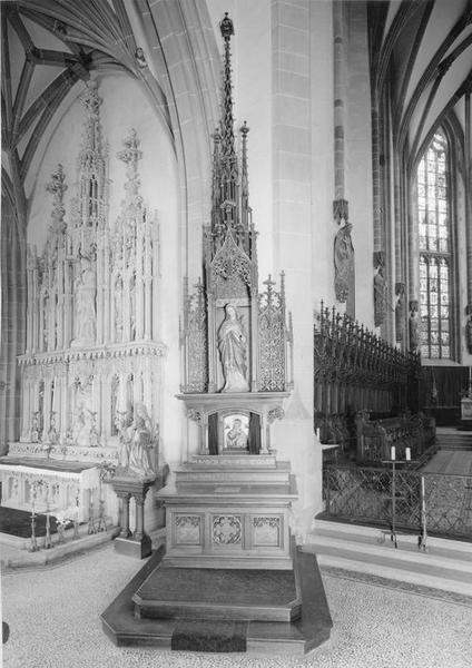 autel, retable, du Sacré-Coeur de Marie, vue générale