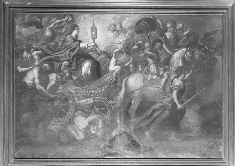 tableau : le triomphe de l'église, vue générale