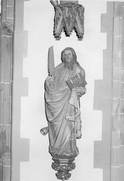 statue: saint Simon, vue générale