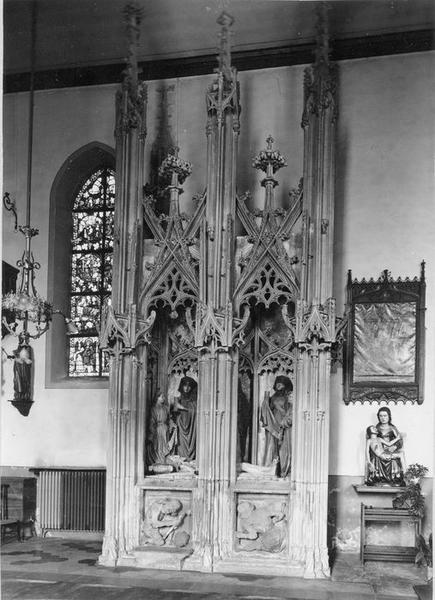 Groupe sculpté : Le tombeau du Christ