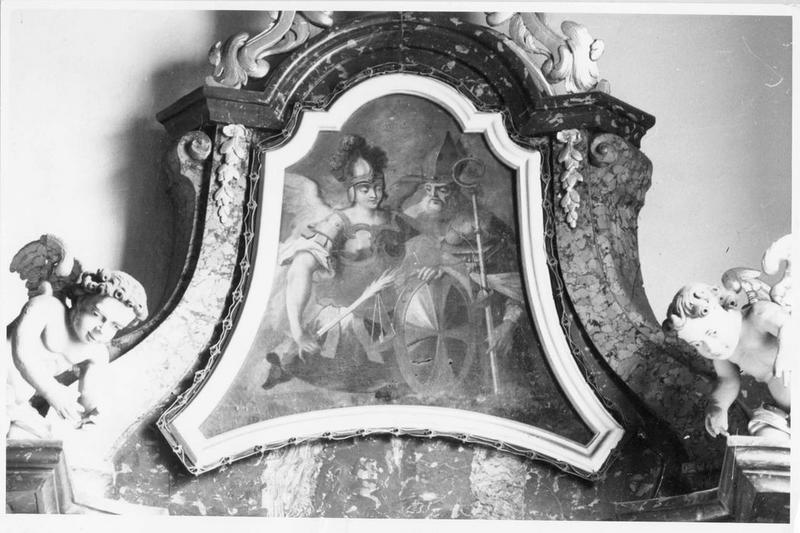 Tableau : saint Michel et saint Nicolas