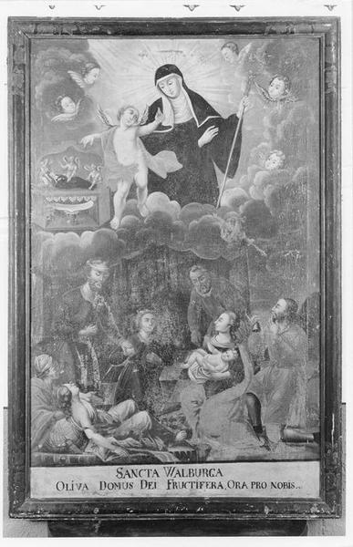 tableau : sainte Walburge, vue générale