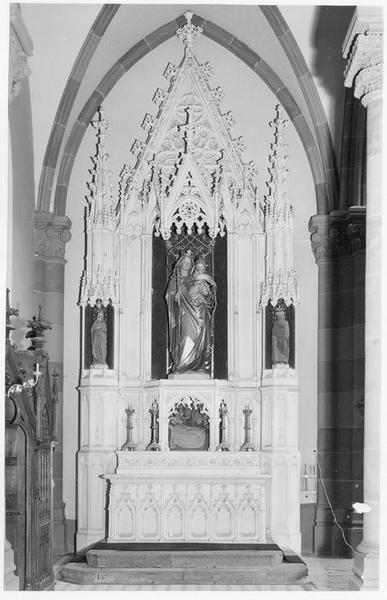 autel, de la Vierge, vue générale
