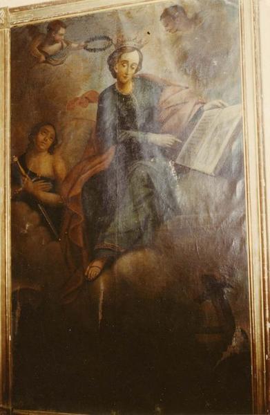 tableau : sainte Catherine de Sienne, vue générale