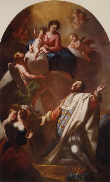 tableau : saint Louis devant la Vierge, vue générale