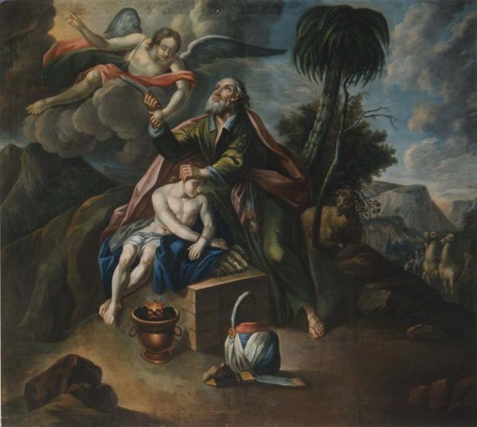 tableau : le Sacrifice d'Isaac, vue générale