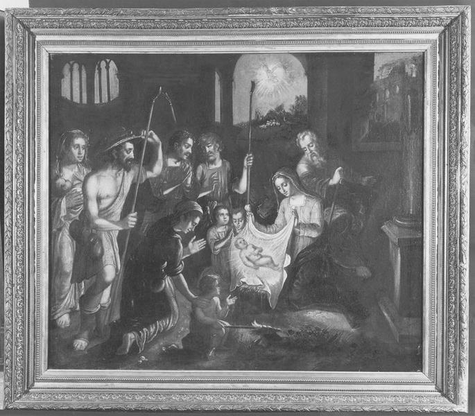 Tableau : Nativité et Adoration des bergers