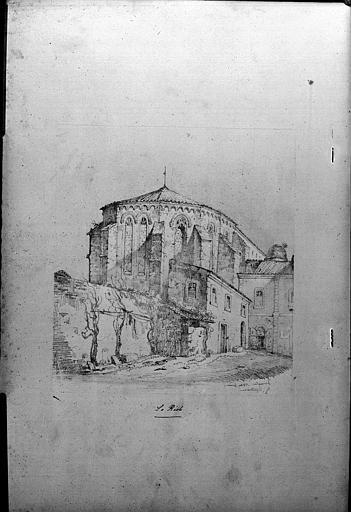 Côté nord-est de l'abside