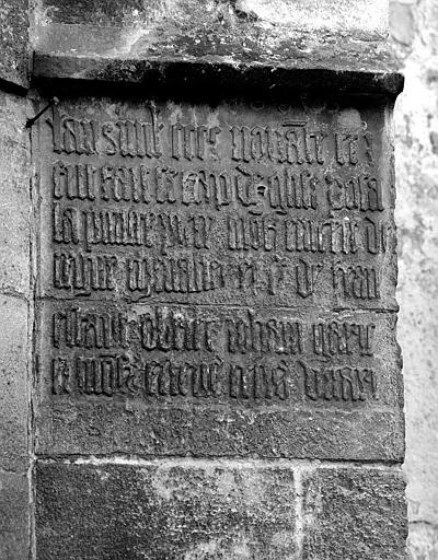 Inscription en pierre