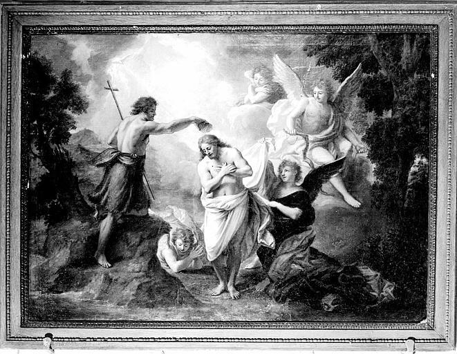 Le Baptême du Christ, peinture sur toile