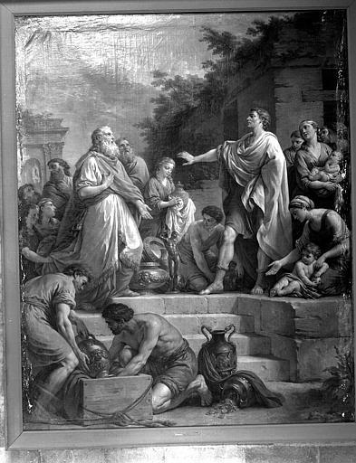 Un consul romain refuse des présents, peinture sur toile