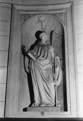 Statue : Saint Benoît, plâtre