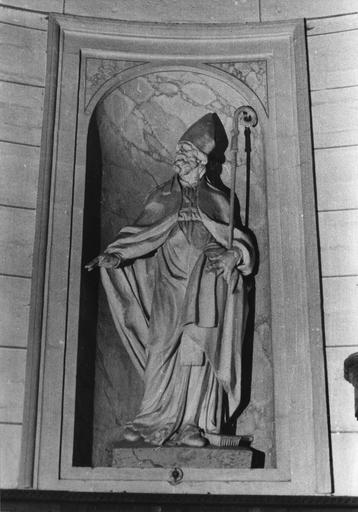 Statue : Vierge à l'Enfant, plâtre