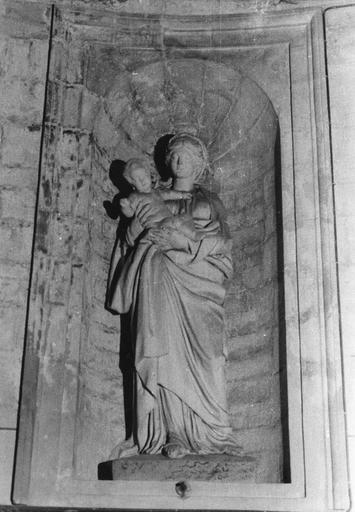 Statue : Saint Blaise, plâtre