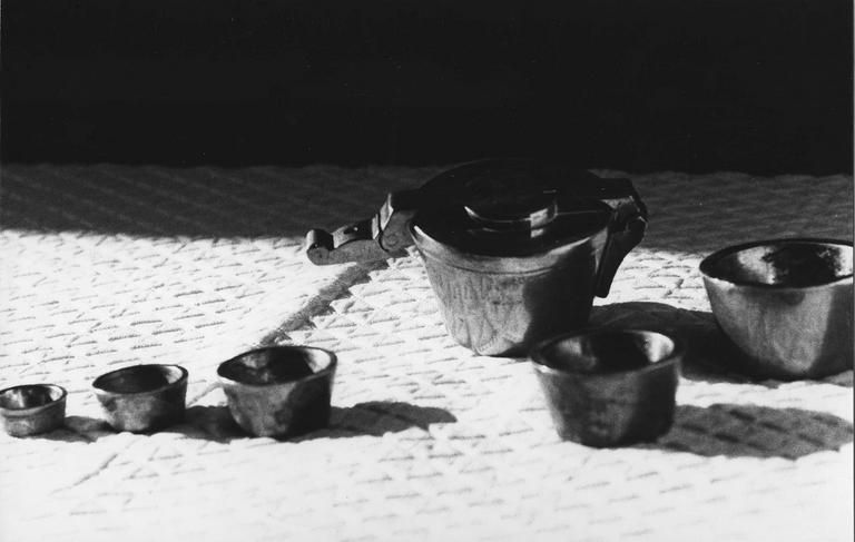 6 poids en bronze empilables