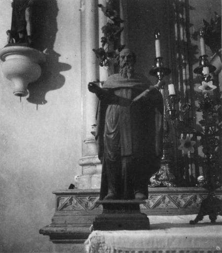 Statue : Saint Antoine, bois sculpté, peint