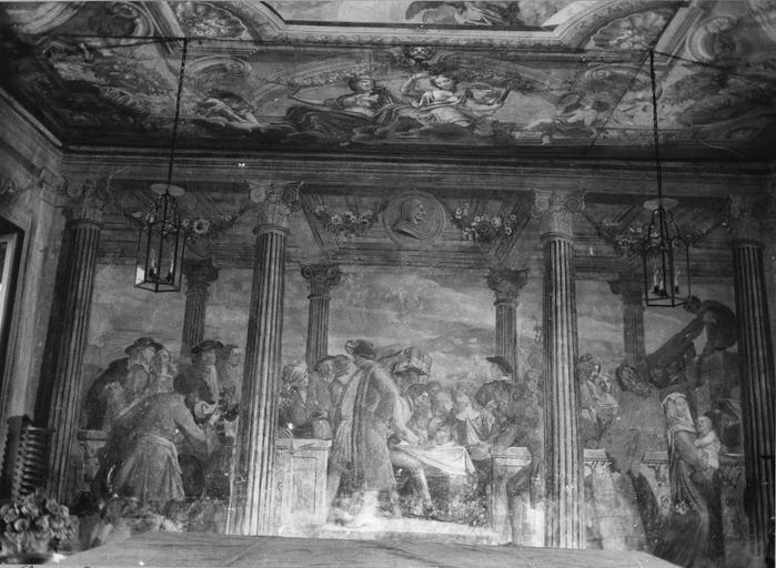Peinture monumentale : L'assemblée des marchands, fresque