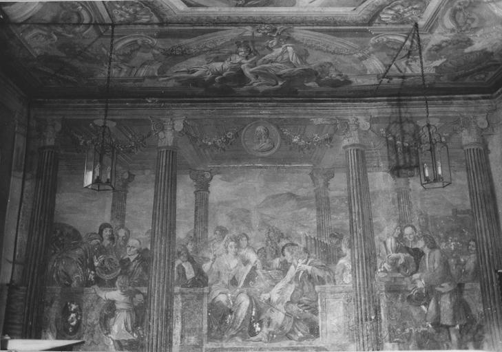 Peinture monumentale : Le concert champêtre, allégorie des Lettres, des Sciences et des Arts, fresque