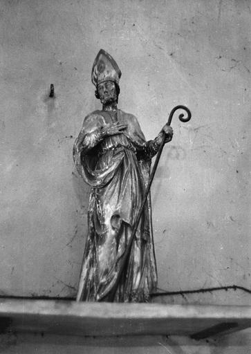 Statue : Saint Didier évêque, bois sculpté, peint, doré