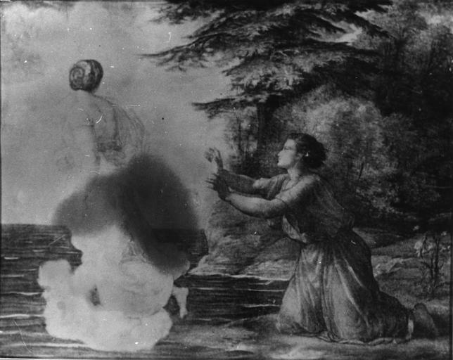 Dessin : L'Adieu, issu de la 2e série du Poème de l'Ame