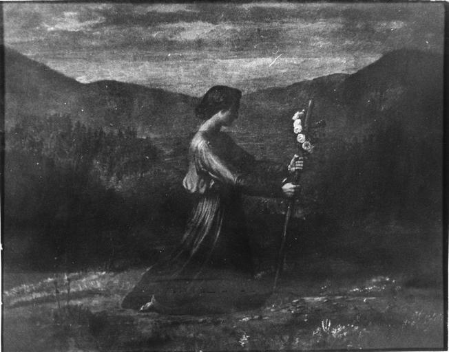 Tableau : Réalité, issu de la série du Poème de l'Ame, huile sur toile